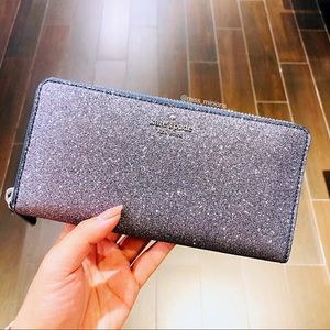 Kate Spade Odette Large Continental Glitter Wallet